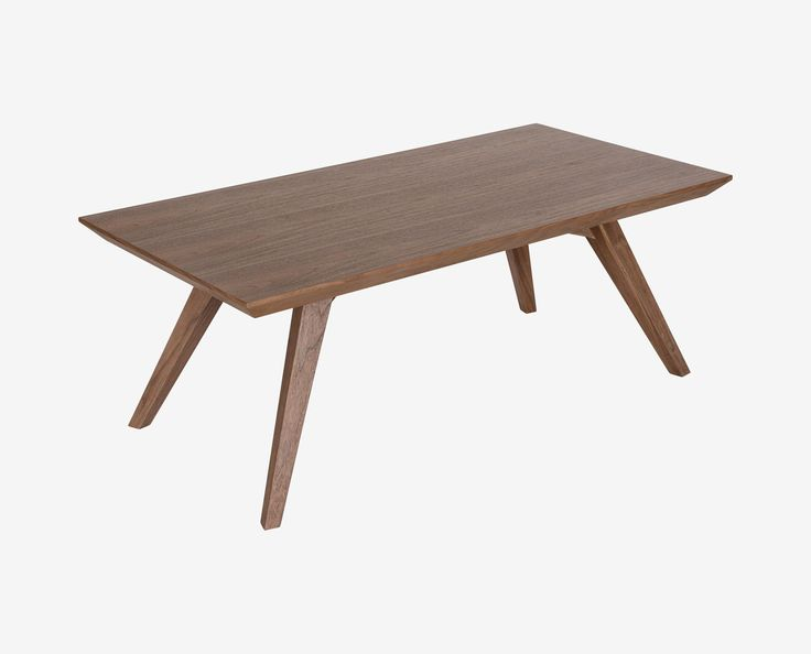 Scandinavian Designs - The fresh profile and Scandianvian feel of the Ortego coffee table is highlighted by the warm walnut veneer on this a beveled table top and squared legs.