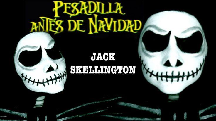 maquillaje Jack Skellington / caracterización /Pesadilla antes de navidad /FOFUÑECAS - YouTube
