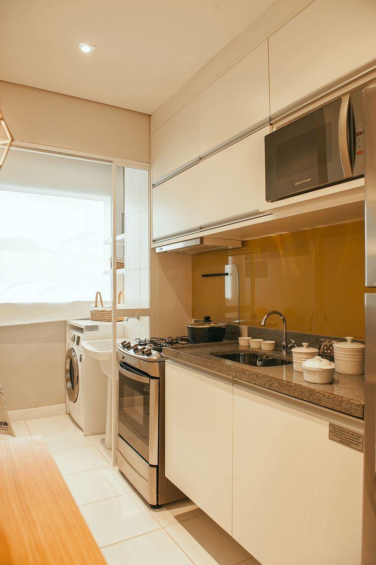81 melhores imagens de cozinha planejada no pinterest for Cocinas pequenas con lavanderia