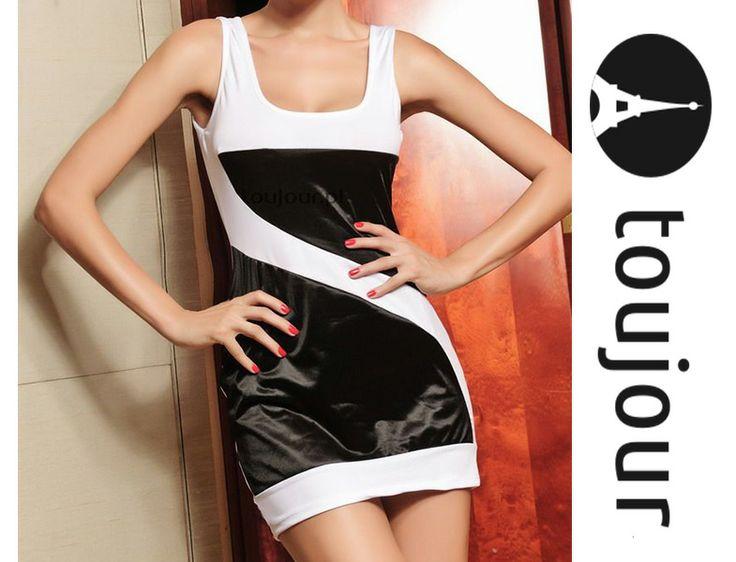 Czarno - biała mni sukienka na imprezę od 1zł BCM