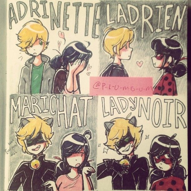♥ !! Do not re-upload or use my art without my consent !! ♥  reblog on tumblr  ||  instagram   Enjoy~  Art (c) me Ladybug/Marinette, Chat Noir/Adrien (c) ...