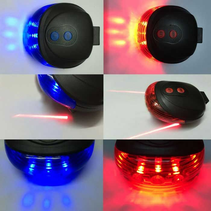 BL-1-BL Front or Back 3 x LED + 2 x Laser for Bicycle Electric Bicycle, Electric Cars