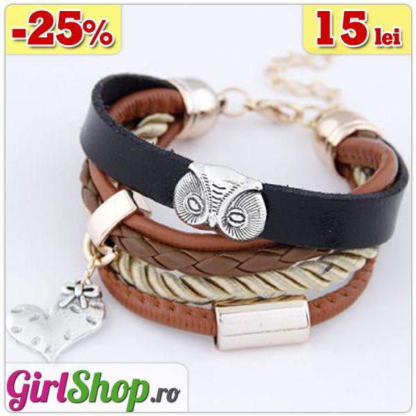 Bratara multicolora impletita cu bufnita si inimioara -> doar 15 lei http://www.girlshop.ro/cumpara/bratara-multicolora-impletita-cu-bufnita-si-inimioara-101  #bratara #bufnita #bratari #multicolor #bijuterii #accesorii #fashion #jewelry #bijoux #girlshop