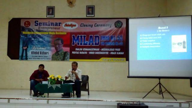 Seminar Entrepreneur IMM Motivasi Kader Jadi Pengusaha #bisnis wirausaha PC IMM seminar