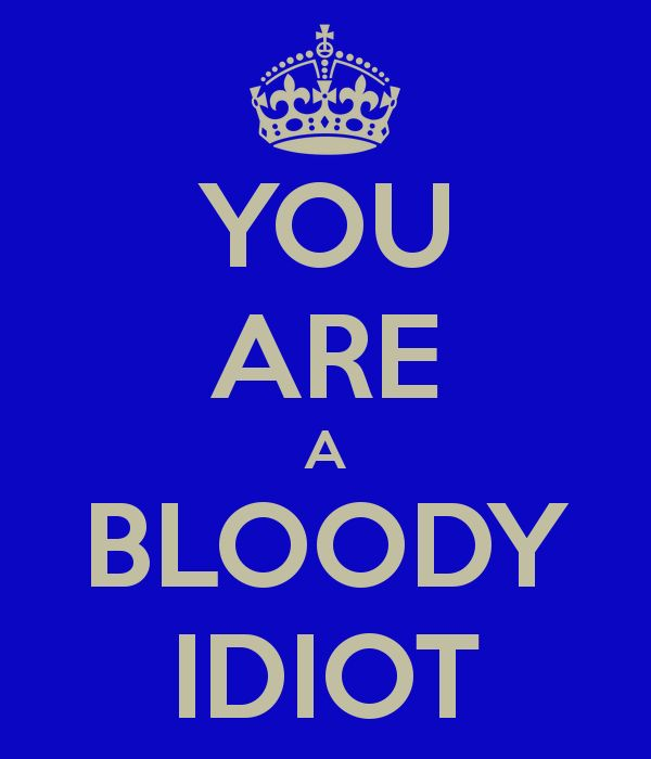 'YOU ARE A BLOODY IDIOT' Poster