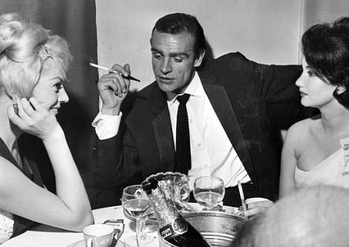 Anita Ekberg, Sean Connery and Zena Marshall