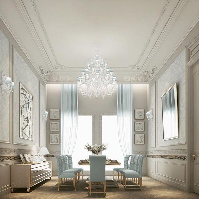 Residential projects - abudhabi, qatar, dubai - traditional - #dinningroom Spaces - Other Metro - IONS DESIGN- DUBAI