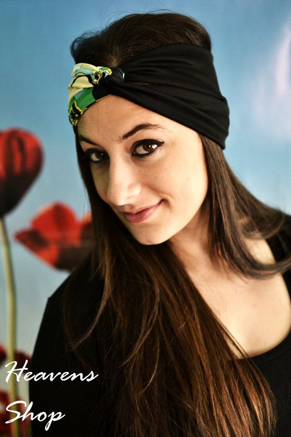 Elastic Stretchy Double Color Turban Floral Print by HeavensShop, €12.50