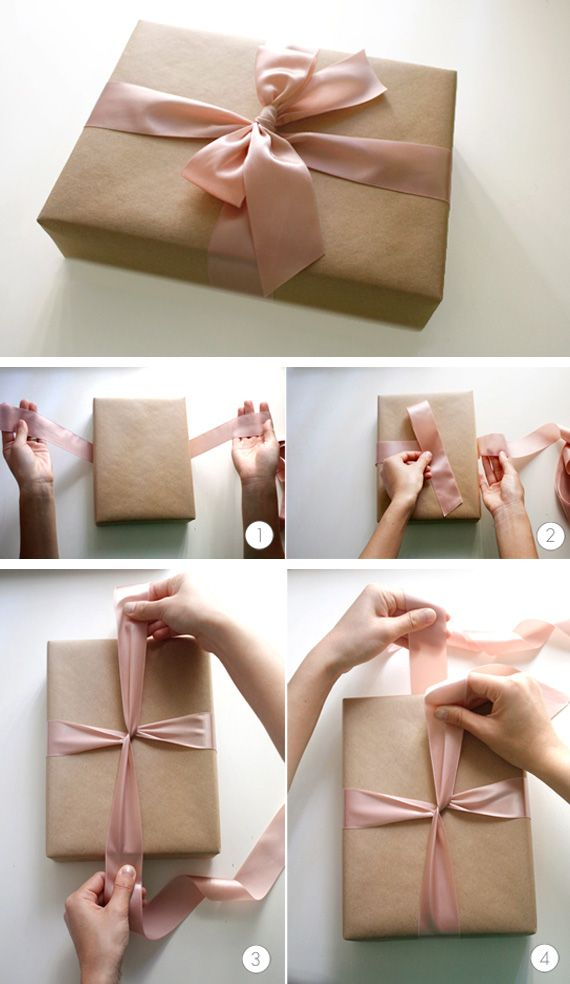 Brown paper packages tied up in bows.