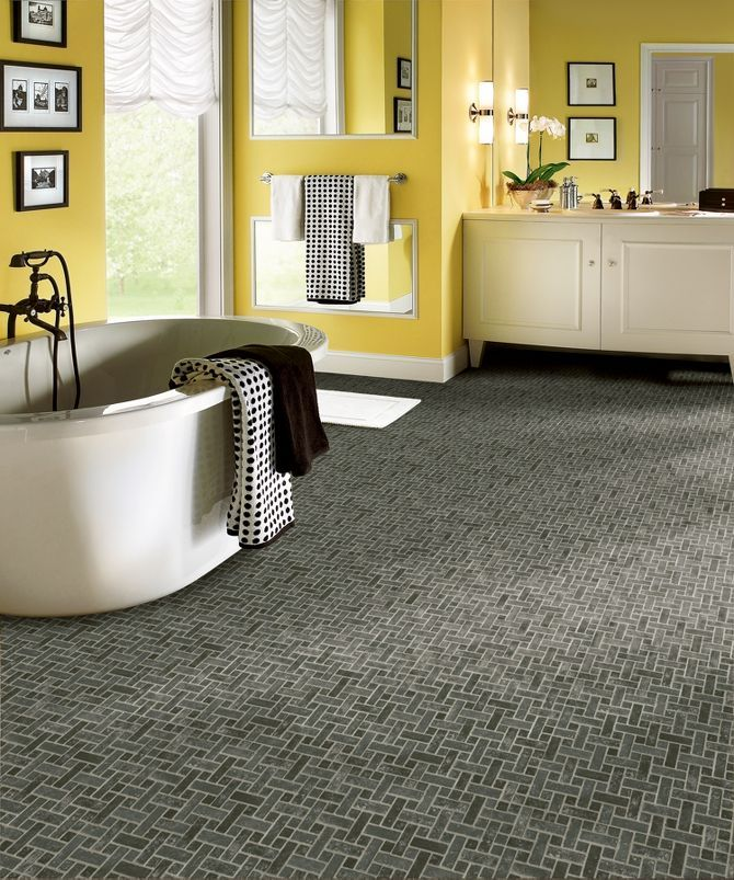 Get A Vintage Look For Your Bathroom With This Awesome Armsrtong Vinyl Sheet Flooring Possibility