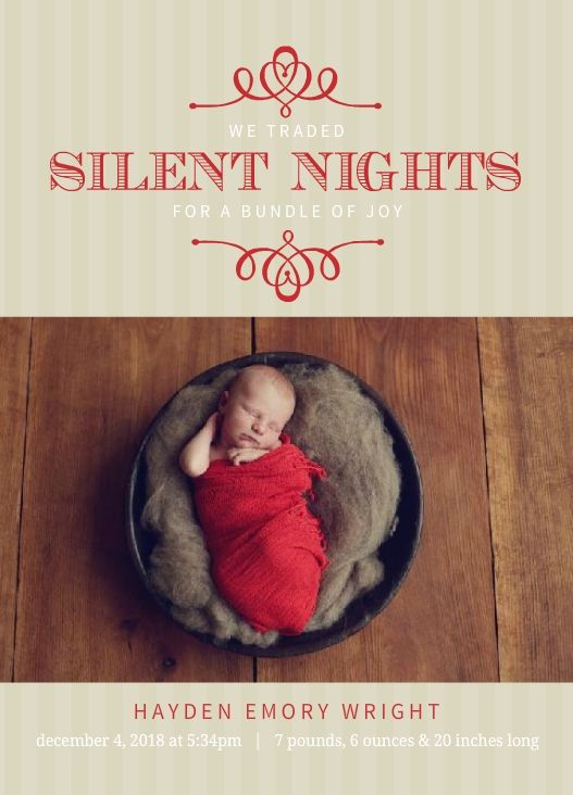 46 best Christmas and Holiday Birth Announcements images on – Cheap Photo Birth Announcements