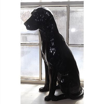 This Black Labrador Retriever Statue Is Surprisingly Lifelike And Captures  The Regal Expression And Stance Of