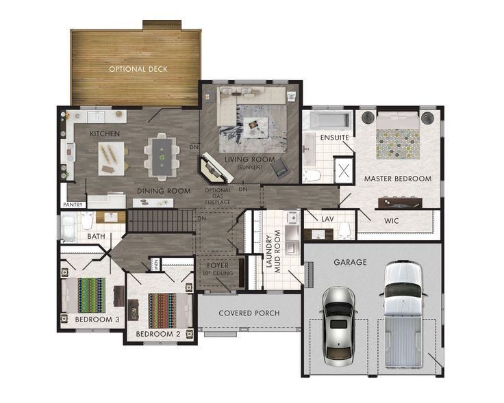 Awesome Home Hardware Floor Plans Part - 10: Beaver Homes And Cottages - Monaco, Home Hardware Sunken Living Room,  Garage Size,. Dream House PlansSmall ...