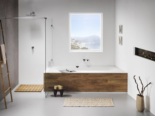 Het bad dat zich aanpast aan uw badkamerontwerp (Bad: Sealskin Canvas)