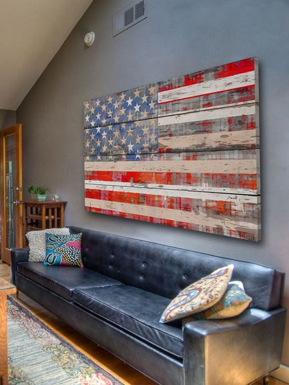 American Dream (Reclaimed Wood) by Parvez Tag  can I do a smaller version of the union jack maybe