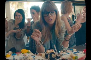 """The beginning of Taylor Swift's """"22"""" opens with Taylor and her friends eating cake. Mike Will Made It's song """"23"""" featuring Miley Cyrus opens with her smoking cigarettes in the bathroom wearing a bikini. 