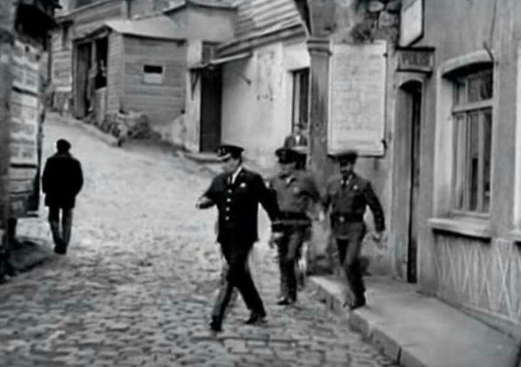 Cibali Karakolu. Cibali Police office. 1950's.   Cibali Fatih. Istanbul. Turkey.