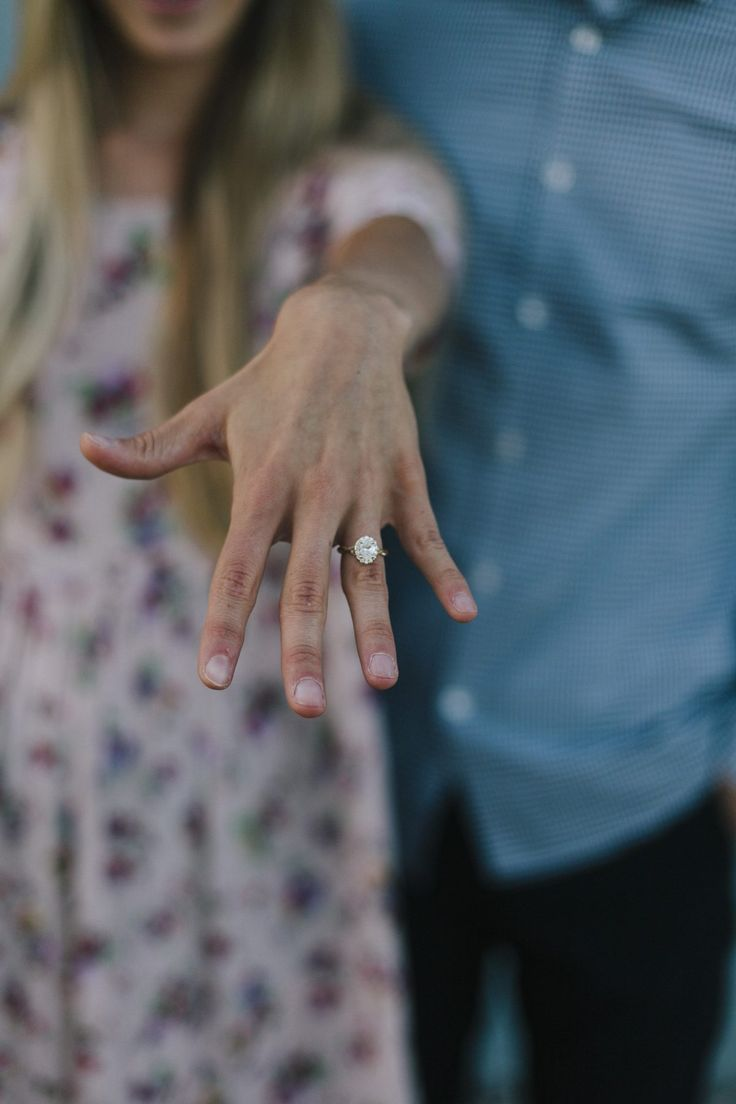 So obsessed with this stunning oval engagement ring, and the proposal story behind it is magical!