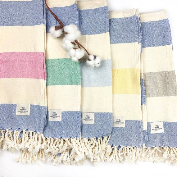Turkish Towel Striped Peshtemal Turkish Beach Towel Turkish
