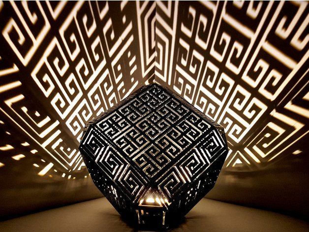 Greek Meander Lamp By Hultis Thingiverse Simple Prints Prints Make A Lamp