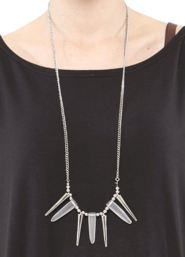 Silver Spike Necklace: Spikes Necklaces, Silver Spikes