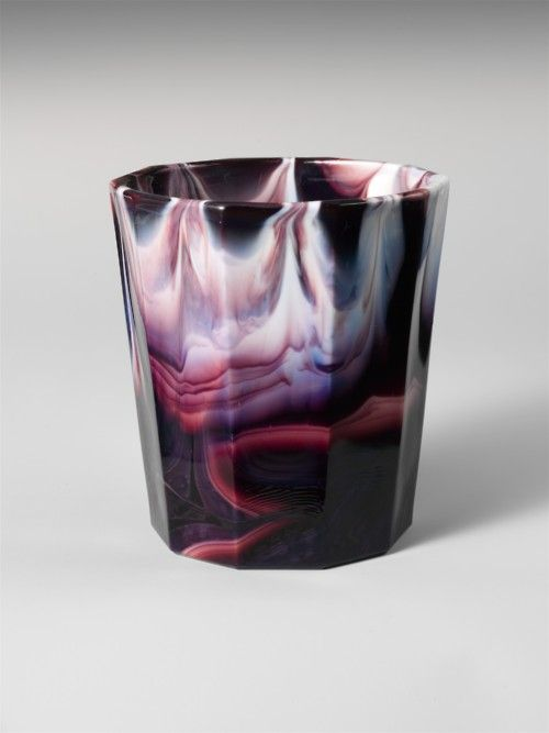 Slag glass tumblers by Challinor, Taylor and Company ca. 1870-1890