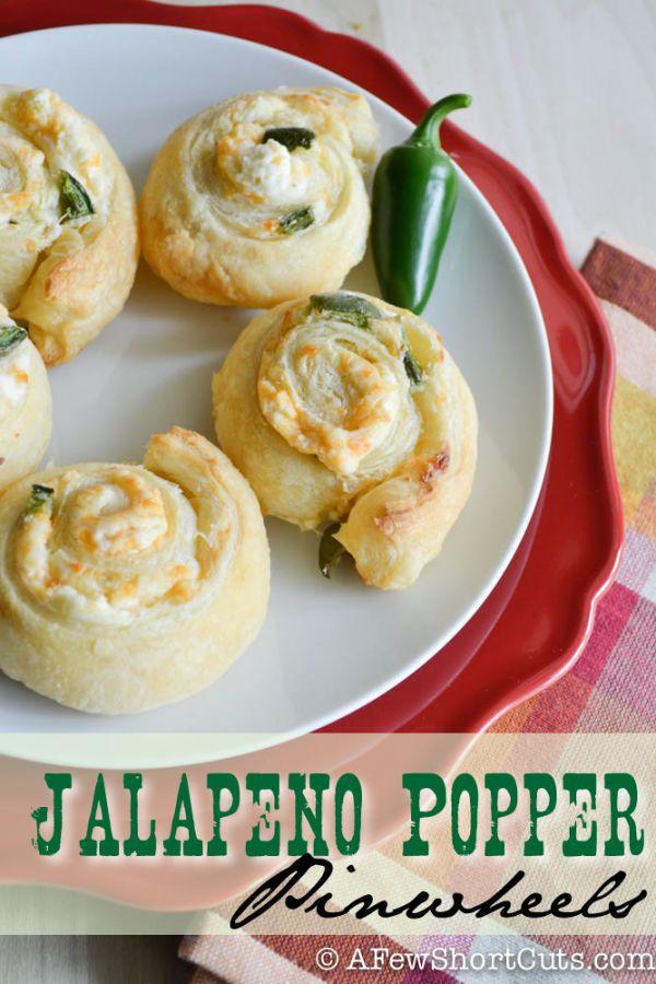 Jalapeno Popper Pinwheels #puffpastry