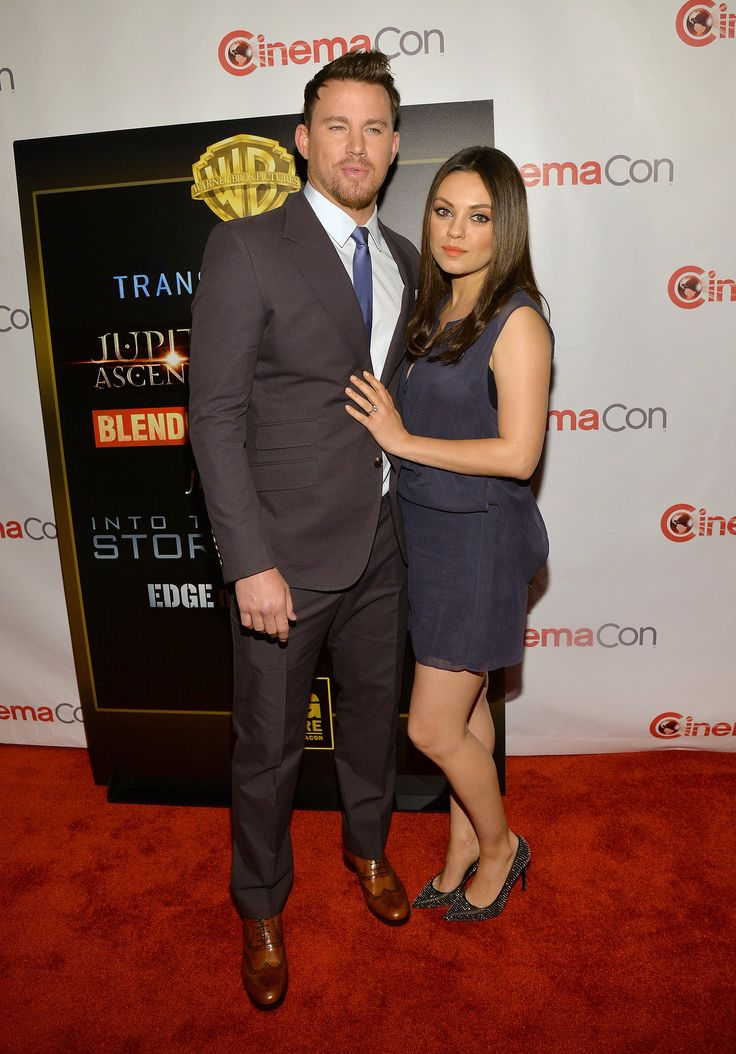 Mila Kunis showed off her engagement ring at 2014 CinemaCon.