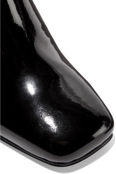 Stuart Weitzman - Vigor Patent-leather Ankle Boots - Black
