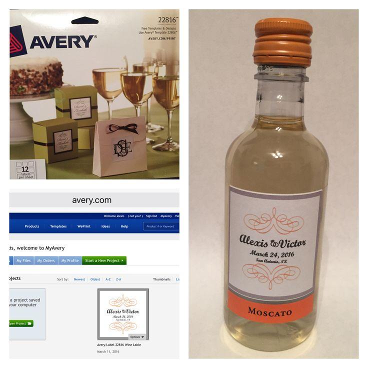 avery wine label templates - 25 best ideas about mini wine bottles on pinterest mini