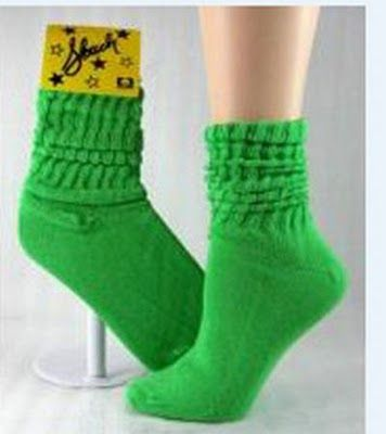 Slouch Socks..but you had to wear 2 differnt colors that matched your outfit....and over the jeans!  omg.