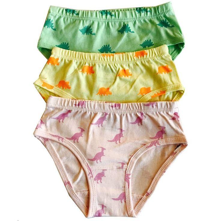 Dinosaur All-Over-Print Organic Cotton Underwear - 6-Pack