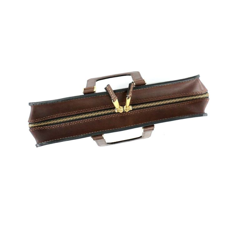2102 top open leather briefcase - 21
