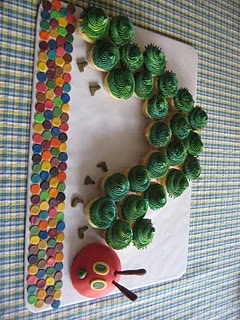Eric Carle Baby shower cupcakes
