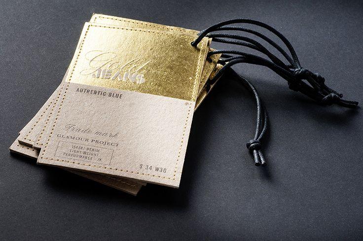 Gold hang tags jeanswear by tipografia tozzi