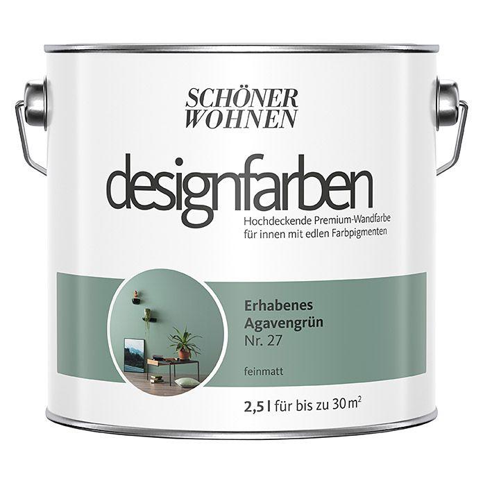 Schoner Wohnen Wandfarbe Designfarbe Erhabenes Agavengrun 2 5 L Feinmatt Schoner Wohnen Wandfarbe Wandfarbe Schoner Wohnen