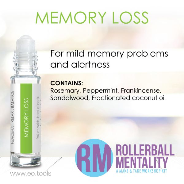 Memory Loss is for mild memory problems and alertness. Make this DIY blend using…
