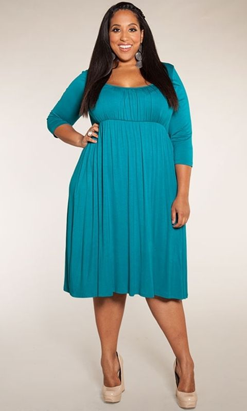 A romantic, plus size dress with empire waistline makes for easy-to-wear style. Dress it up or keep it casual. We based this style on our bestselling Essential Tank Dress to offer you a style with sleeves!