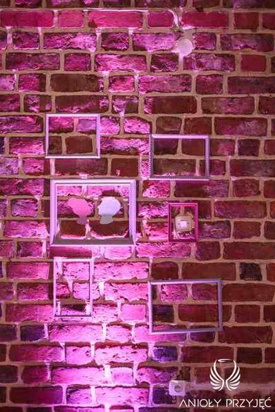 5. Fuchsia Wedding, Frames,Silhouette,Pink light / Wesele fuksjowe,Dekoracje,Ramki,Anioły Przyjęć