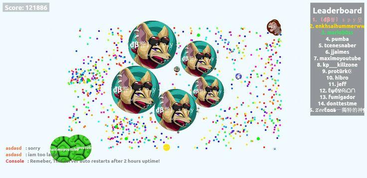 〘đβ誉〙spy웃 play agario agariohit.com together! - Player: 〘đβ誉〙spy웃 / Score: 121886