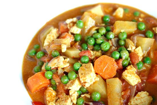 Romige Indiase curry met tofu