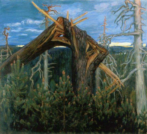 """The Broken Pine"" (1906) by Akseli Gallen-Kallela"