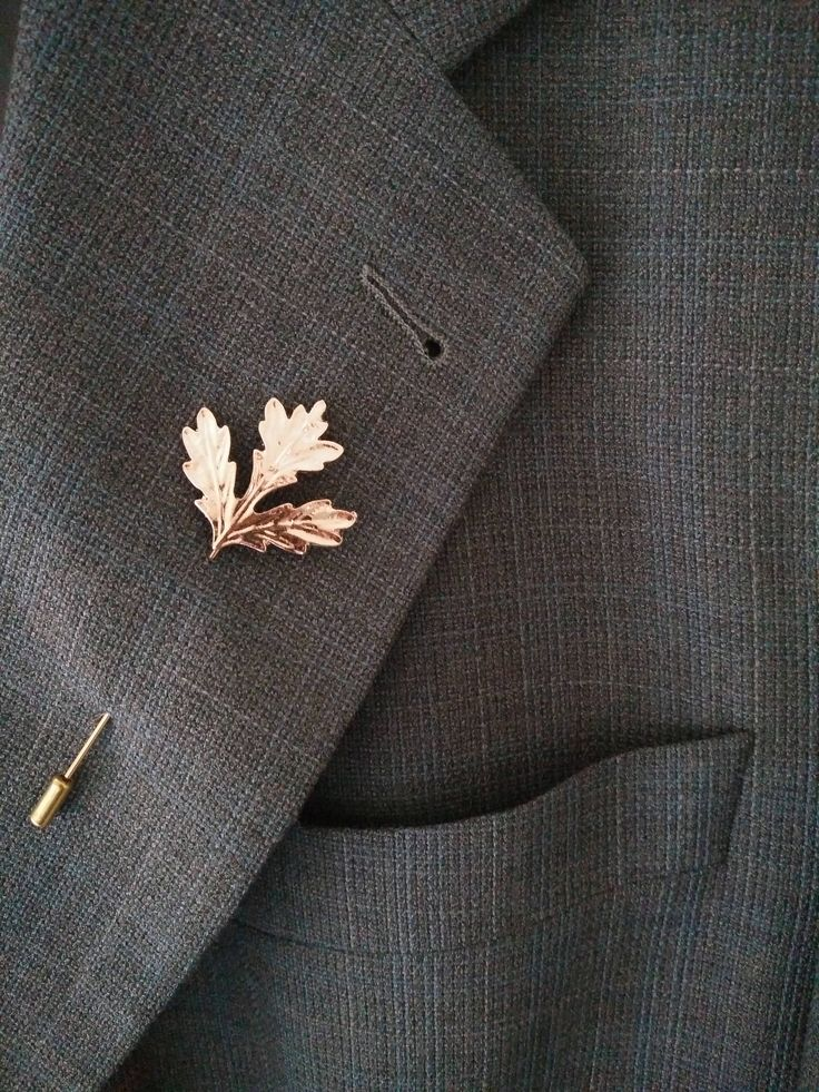Gold Lapel pin, Mens lapel pin, leaf pin, leaf brooch, Mens brooch, Ladies hat pin, leaf jewelry, tie pin, leaf jewelery, gold brooch pin by CrownOfRibbons on Etsy