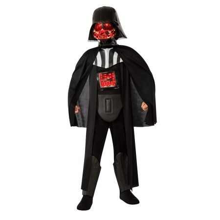 Deluxe Light-up Darth Vader Child Halloween Costume, Boy's, Size: Large, Multicolor