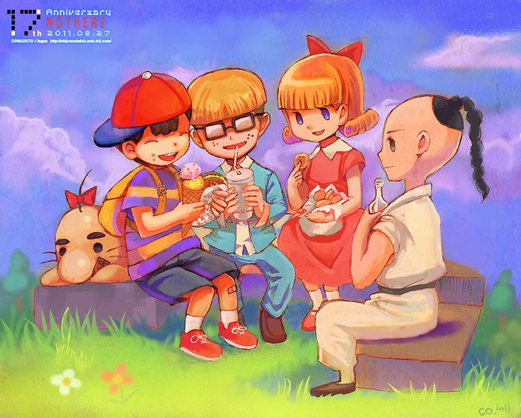 EarthBound Friends Teatime By Inguz3