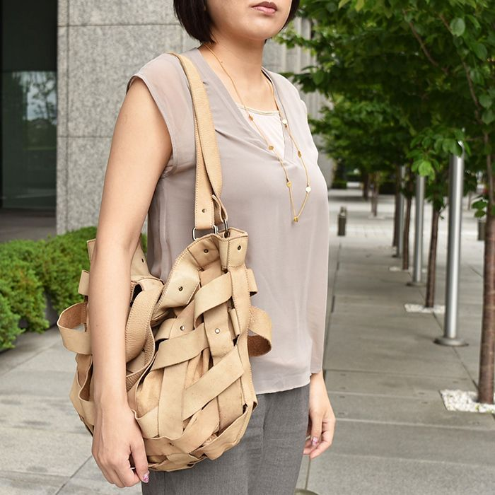 #leather #bag by #malababa and #goldmetal #necklace by #joidart