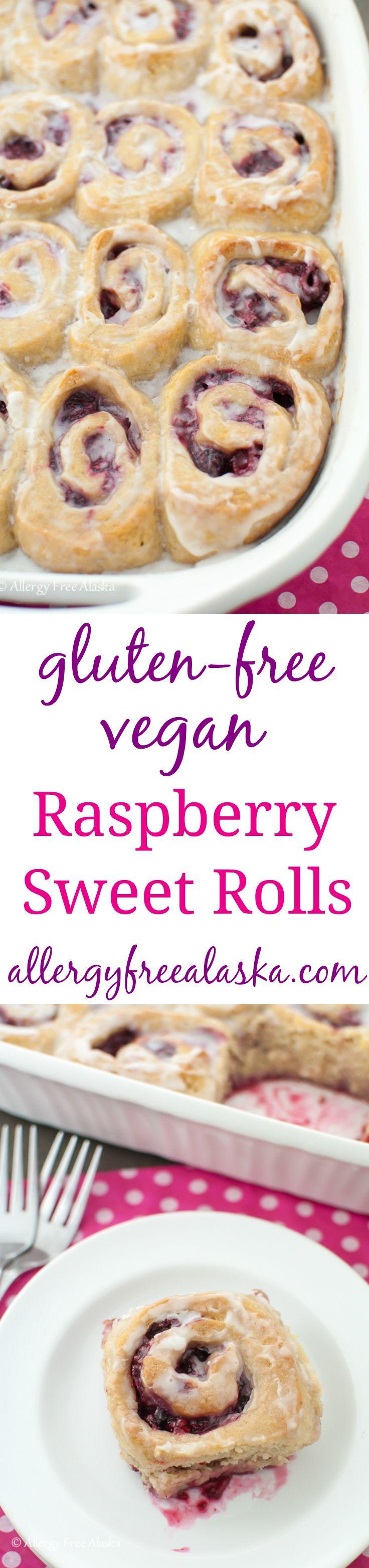 Gluten-Free Vegan Raspberry Sweet Rolls Recipe from Allergy Free Alaska