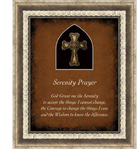 serenity prayer framed wall art christian verses brushstroked decor 15wx18h heartfelthttp