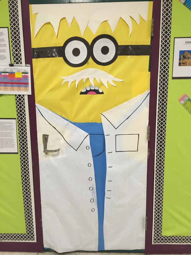 Albert Einstein Minion Door Decor