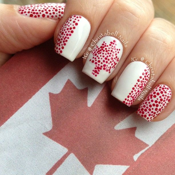 28 Best Canada Day Nails Art Designs Images On Pinterest Gel Nail